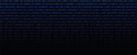 blue binary data code matrix web technology vector illustration EPS10