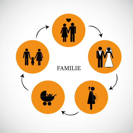 humans life family circulation concept pictogram vector illustration EPS10