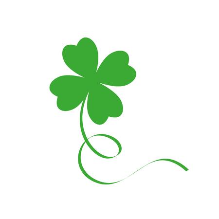 green cloverleaf isolated on white background vector illustration EPS10