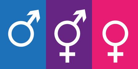 conjunto de símbolos de género, incluido el icono neutral, ilustración vectorial EPS10