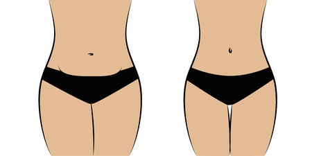 female body thick and slim vector illustration EPS10 Ilustração