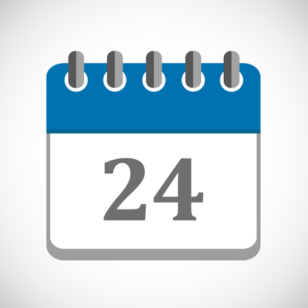 vector illustration of blue calendar 24 icon EPS10 Stock Illustratie