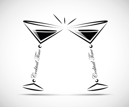 toasting with coktails line icon vector illustration EPS10 Banque d'images - 114815293