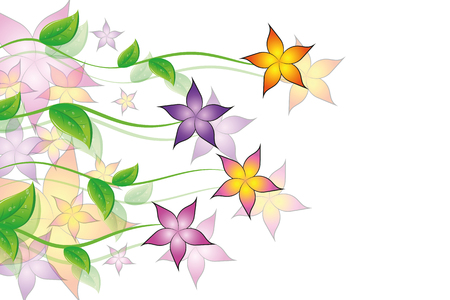 colorful flowers tendril flora background vector illustration EPS10