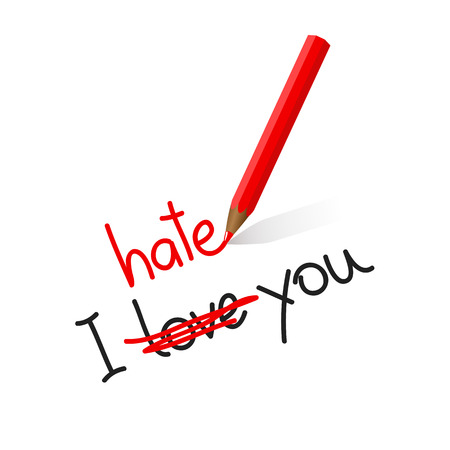 I hate love you typography vector illustration EPS10 Ilustração