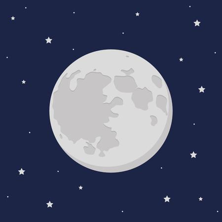moon and stars in the dark sky vector illustration EPS10 Ilustración de vector