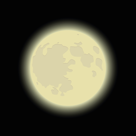 shiny moon on dark background vector illustration EPS10 Ilustração