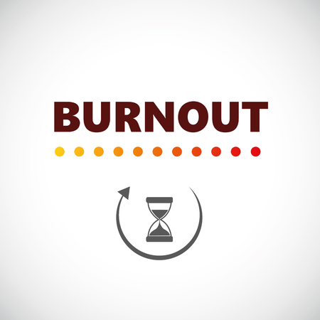 burnout loading with hourglass vector illustration EPS10