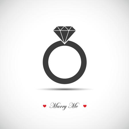 marry me wedding ring icon pictogram vector illustration EPS10 Illustration