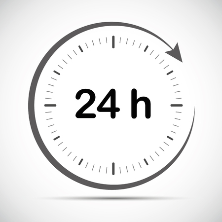 open 24 hours a day icon vector illustration EPS10