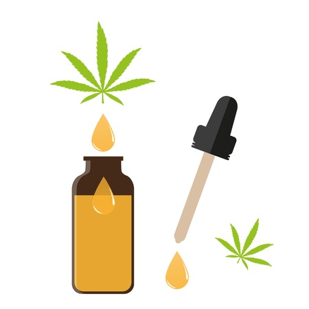 medical natural cannabis cbd oil vector illustration EPS10
