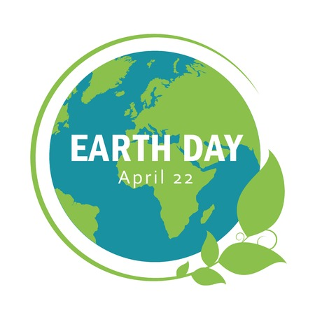 blue and green earth with leaves earth day april 22