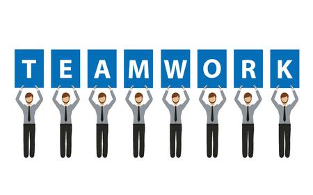 business teamwork concept with business men vector illustration EPS10