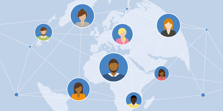 digital social network people connect the world vector illustration EPS10