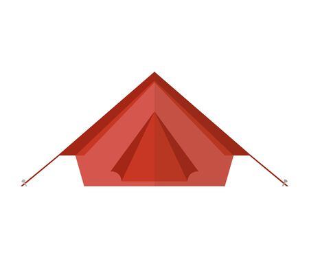 red camping tent isolated on white background vector illustration Illustration