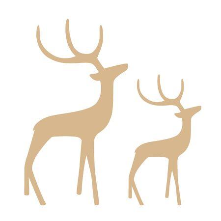 gallant reindeer silhouette isolated on white background vector illustration EPS10 Stock Illustratie