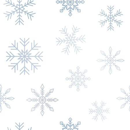 seamless pattern bright snowflake background vector illustration EPS10