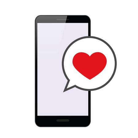 love message in a smartphone vector illustration EPS10