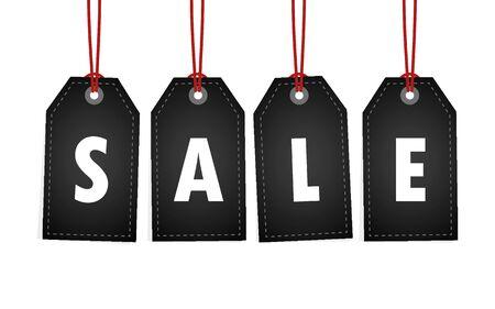 sale promotion hanging label on white background vector illustration EPS10 Banque d'images - 130788006