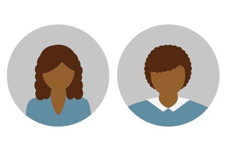 female and male character portrait vector illustration EPS10 Illustration