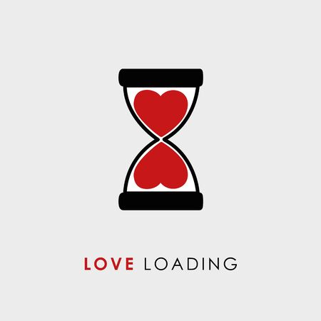 love loading typography with hourglass vector illustration EPS10 일러스트