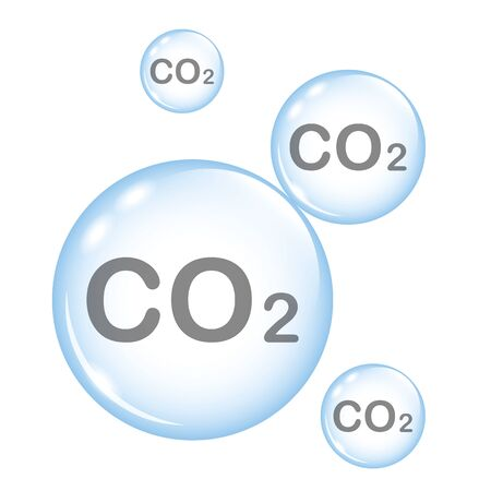 co2 emission blue bubbles isolated on white vector illustration EPS10
