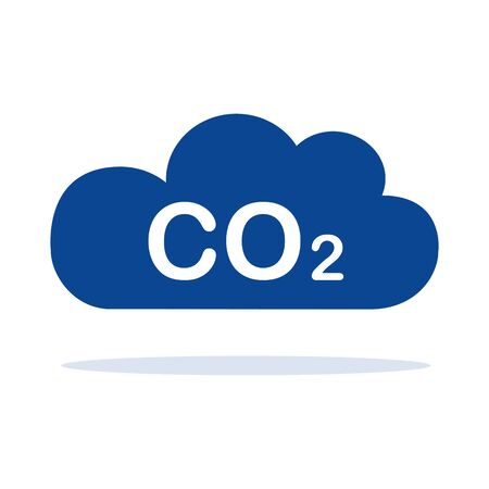 CO2 blue cloud isolated on white background vector illustration EPS10