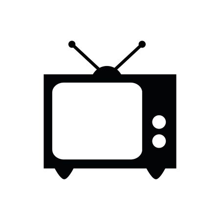 old tv icon isolated on white background vector illustration EPS10