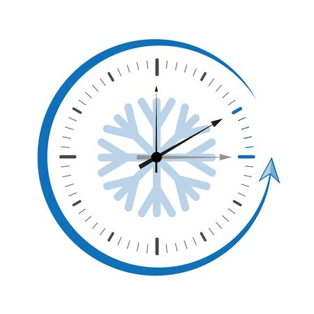 clock switch to winter time abstract vector illustration EPS10