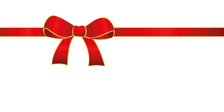red gift bow isolated on white background vector illustration EPS10 写真素材 - 132467122