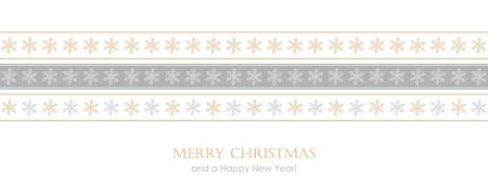 christmas card with seamless pattern snowflake border vector illustration