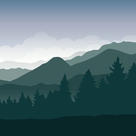 green forest mountain landscape background vector illustration EPS10 写真素材 - 133113684
