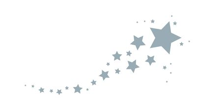 christmas stardust decoration isolated on white background vector illustration  イラスト・ベクター素材