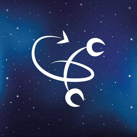 blue zodiac sign scorpion horoscope in starry sky vector illustration