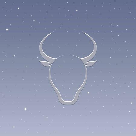zodiac sign taurus horoscope in starry sky vector illustration