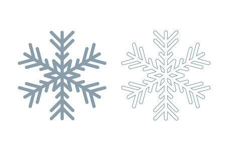 snowflake icon set isolated on white background vector illustration Ilustracja