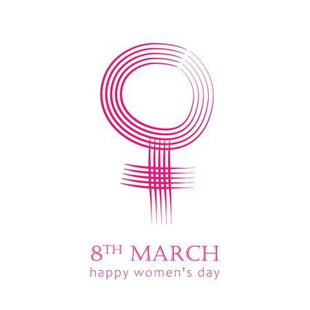 8th march international womens day female symbol vector illustration EPS10