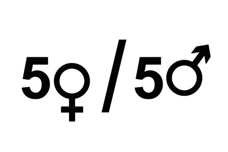 female and male icon symbol equal rights concept vector illustration