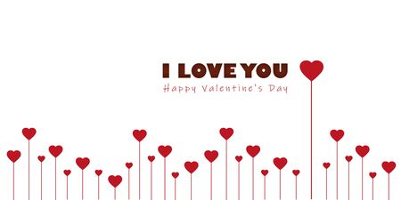 red heart border greeting card for valentines day vector illustration EPS10