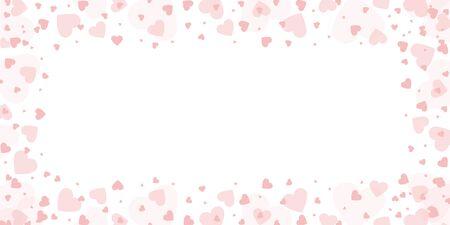 Pink heart border on white