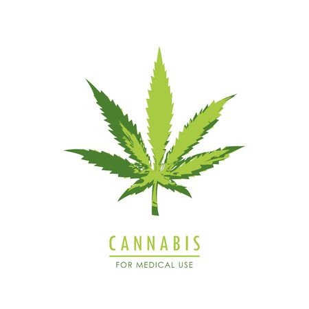 cannabis for medical use green marijuana leaf vector illustration EPS10 Reklamní fotografie - 136996830