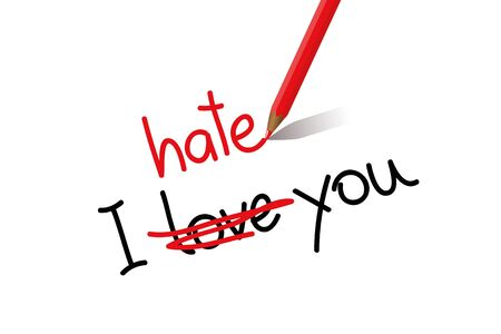 I hate love you typography vector illustration EPS10 Ilustrace