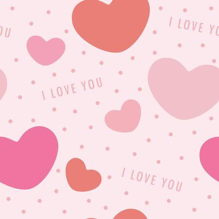 seamless pattern heart love valentines day background illustration
