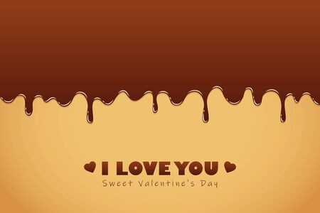 sweet melting chocolate icing for valentines day vector illustration EPS10 Ilustração
