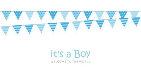 its a boy welcome greeting card for childbirth illustration