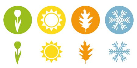 four season summer spring autumn winter symbol vector illustration EPS10 Ilustrace
