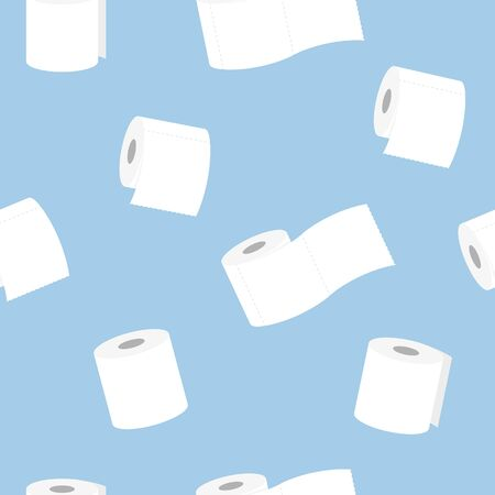 roll of toilet paper seamless pattern vector illustration
