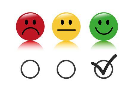 emoticon rating set isolated on white background vector illustration EPS10