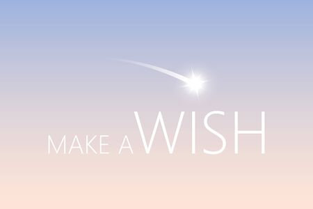 make a wish with falling star in the sky vector illustration 일러스트