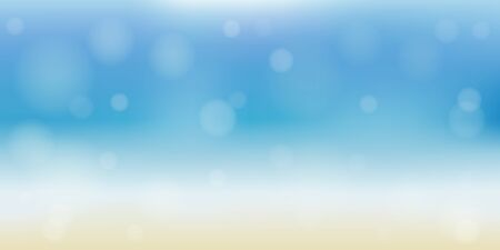 beautiful summer beach banner background with copy space vector illustration